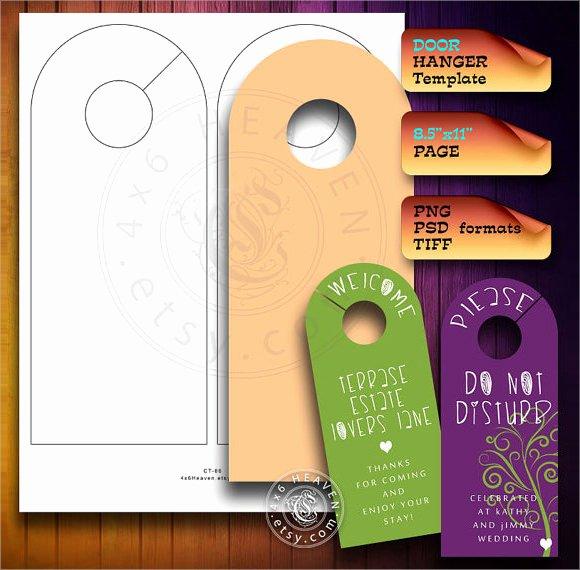 Door Hanger Template Word Best Of Sample Banking and Financial Door Hanger Templates 7