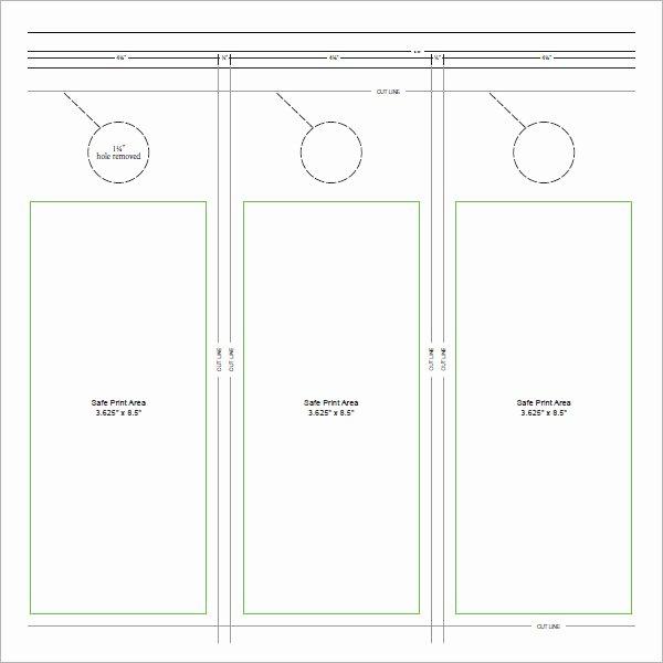 Door Hanger Template Word Luxury 15 Door Hangers