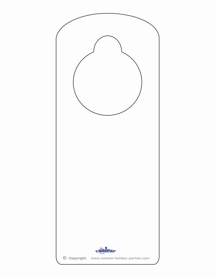 Door Knob Hanger Template Beautiful Blank Printable Doorknob Hanger Template
