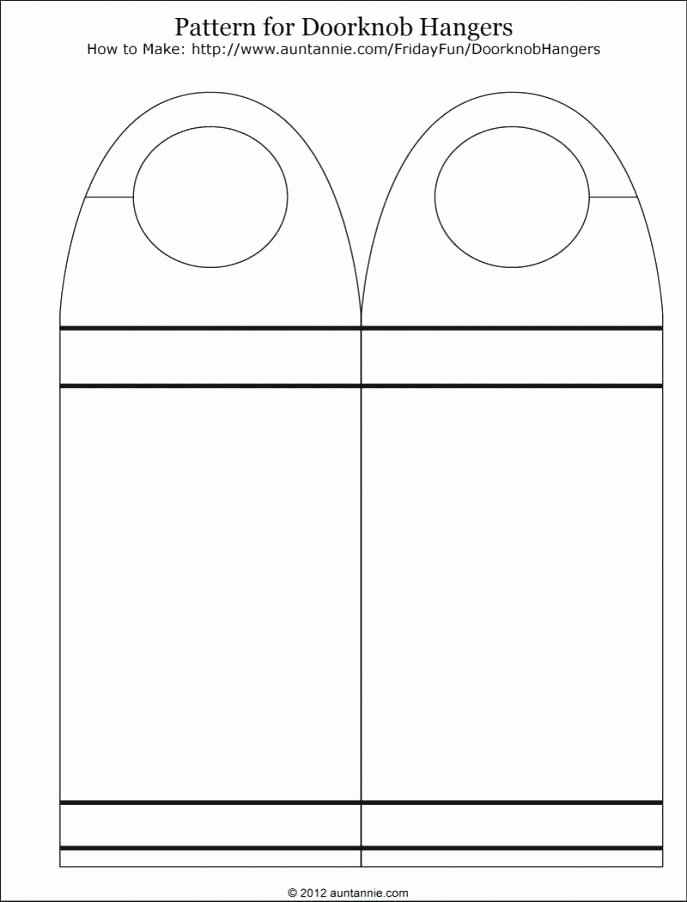 Door Knob Hanger Template Best Of Blank Door Hangers – Oldaccentsub
