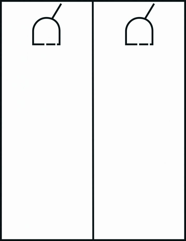Door Knob Hanger Template Best Of Door Hanger Ideas – Coatl