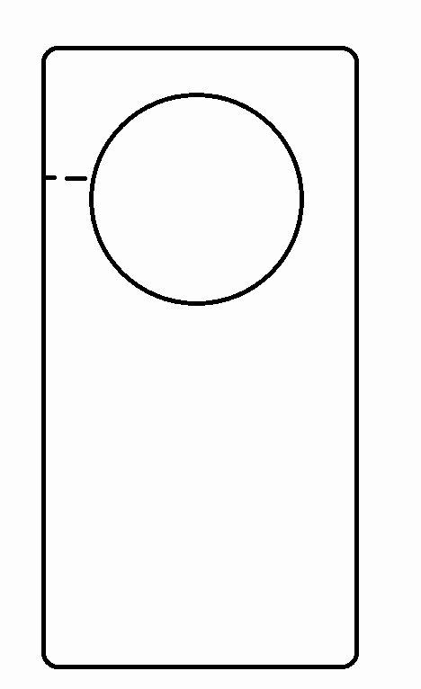 Door Knob Hanger Template Best Of Door Hanger Template