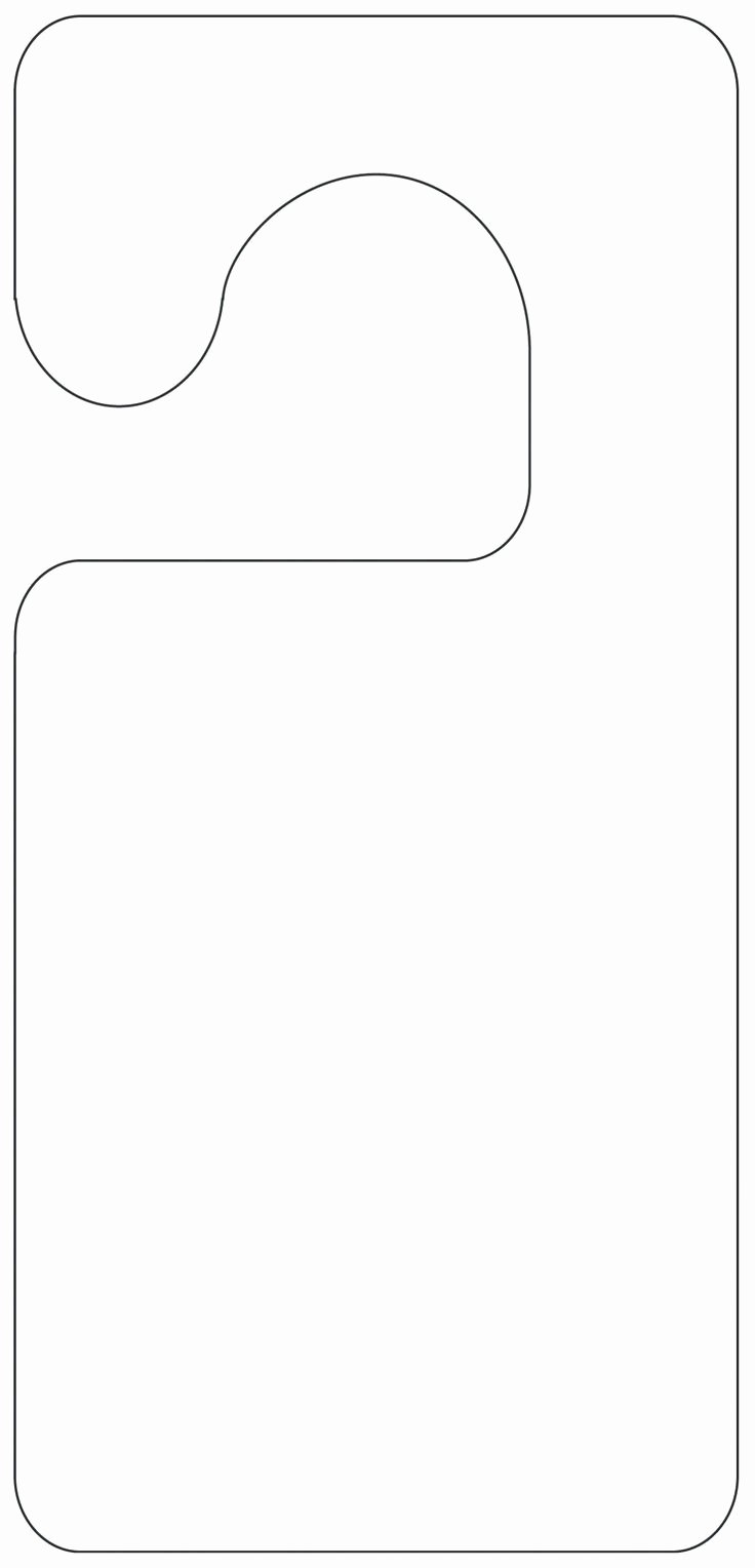 Door Knob Hanger Template Best Of Printable Door Hanger Template