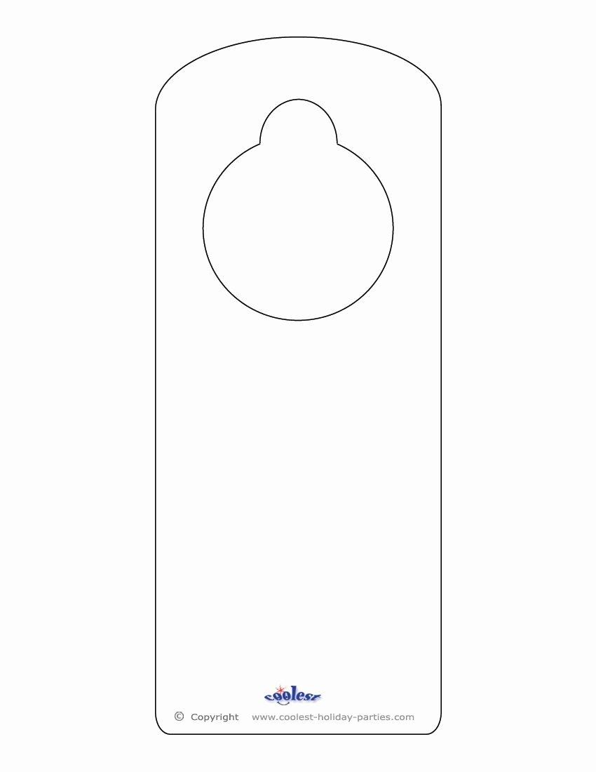 Door Knob Hanger Template Best Of This Printable Doorknob Hanger Template Can Be Decorated