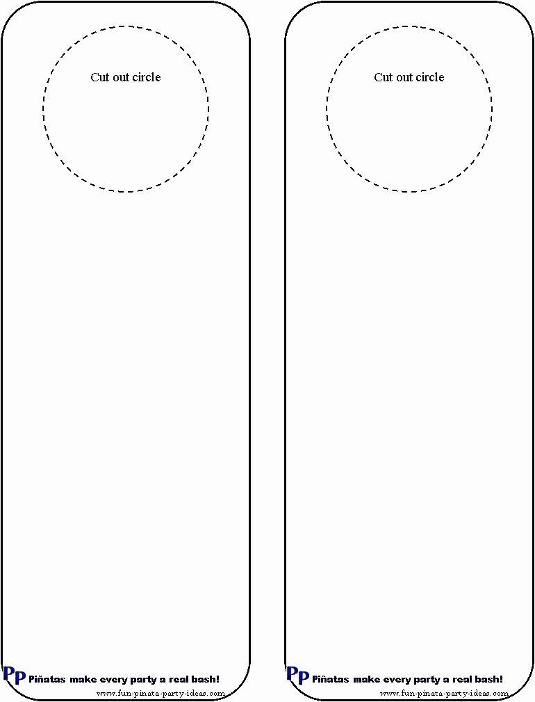 Door Knob Hanger Template Elegant 97 Door Knob Templates Printable Free Printable