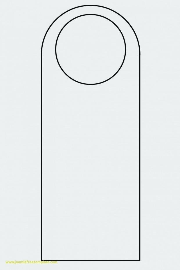 Door Knob Hanger Template Elegant Blank Door Hangers Free Door Hanger Template Design