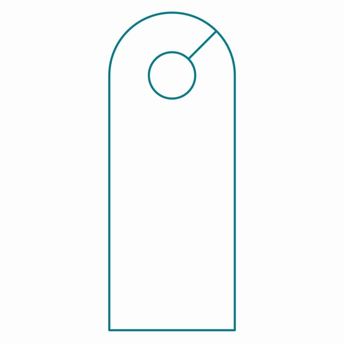 Door Knob Hanger Template Elegant Door Knob Hanger Template Illustrator Templates Resume