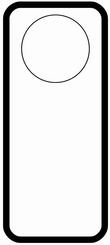 Door Knob Hanger Template Unique Door Hanger