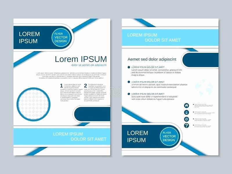 Double Sided Brochure Template Awesome 51 Unique 2 Sided Brochure Template
