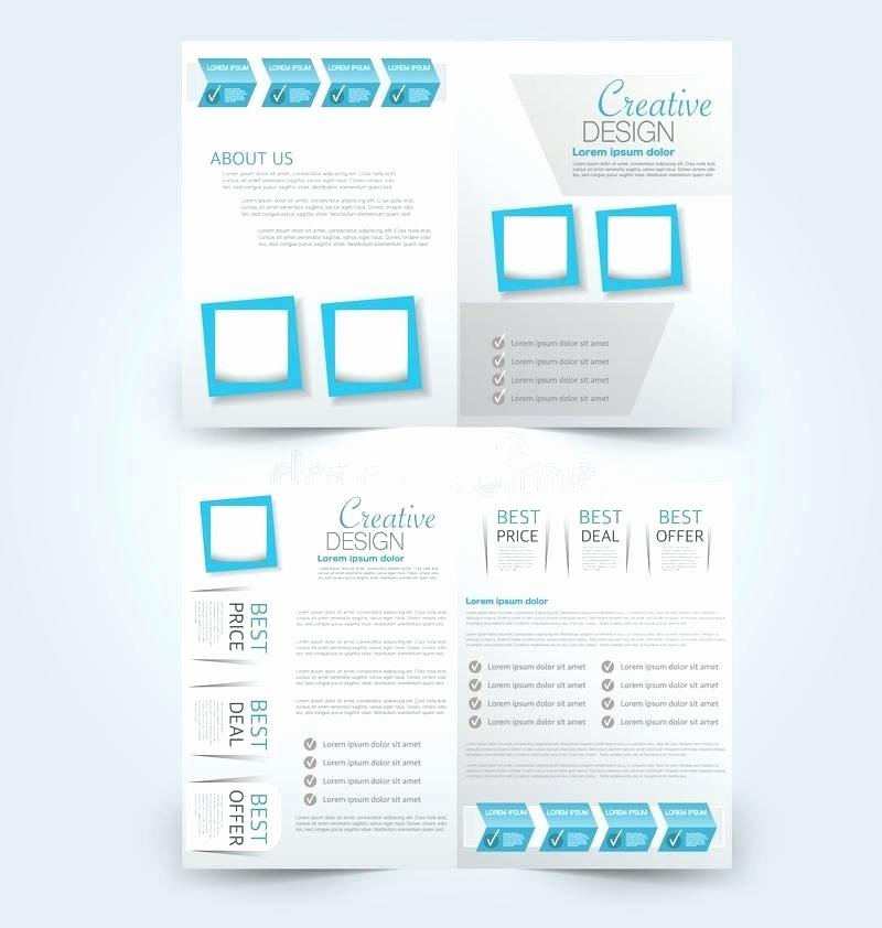 Double Sided Brochure Template Awesome Two Sided Brochure Template Design with Exterior