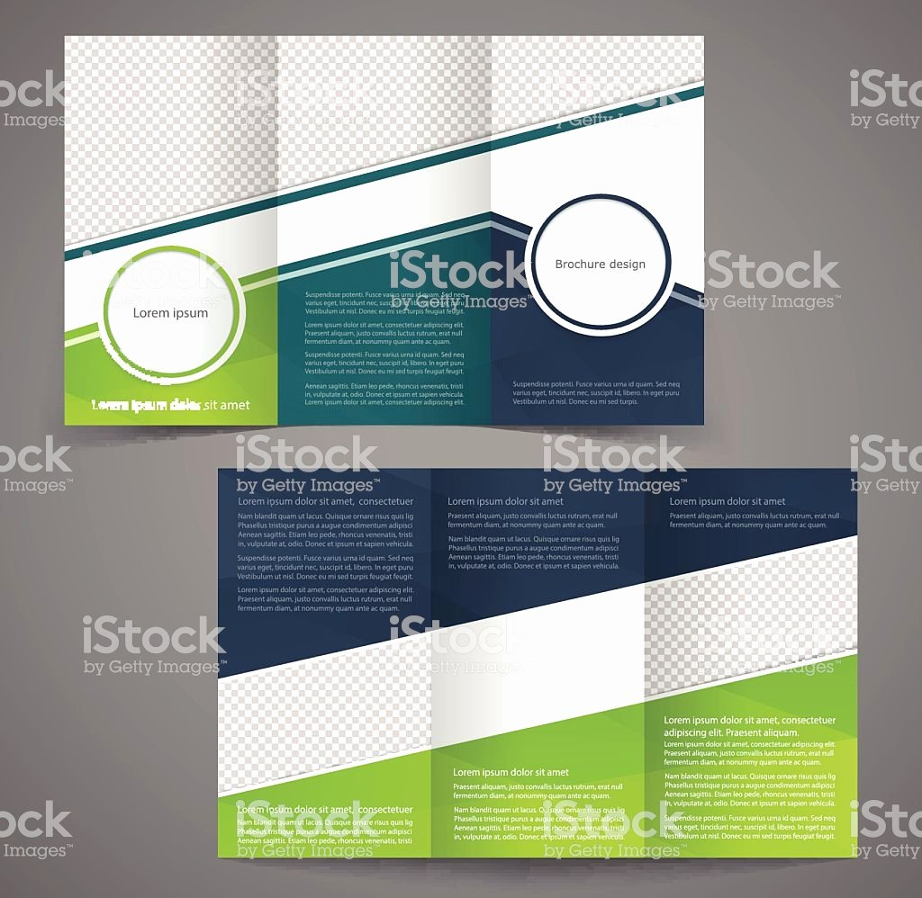 Double Sided Brochure Template Beautiful Trifold Business Brochure Template Doublesided Design