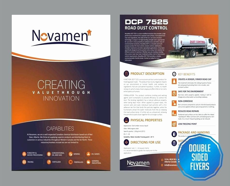 Double Sided Brochure Template Lovely 2 Sided Brochure Template 2 Sided Brochure Templates 2