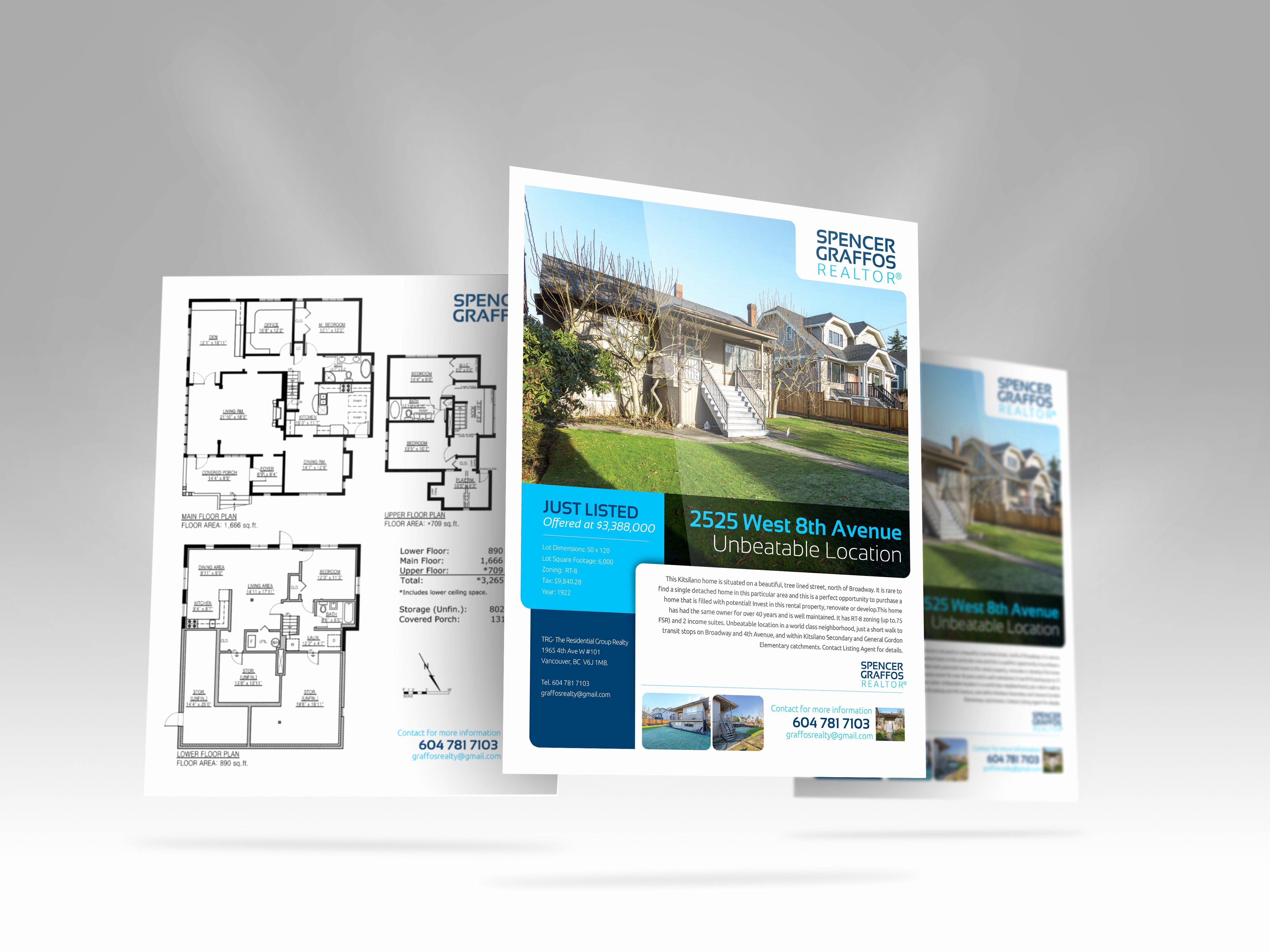 Double Sided Brochure Template Lovely Real Estate Feature Sheet Templates