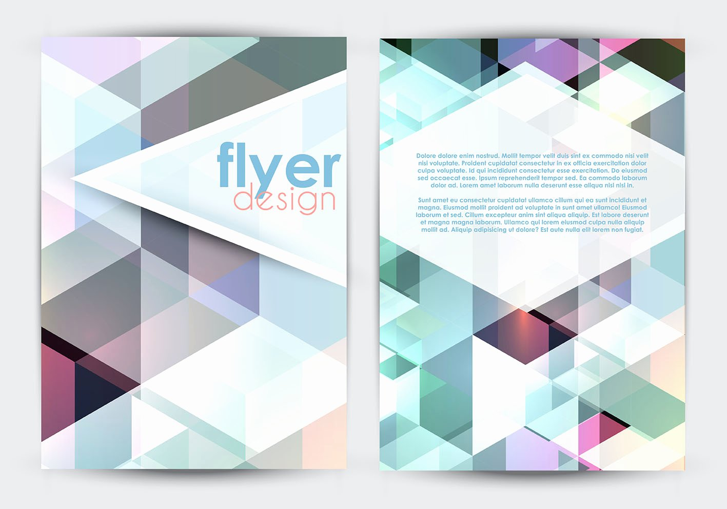 Double Sided Brochure Template Luxury Double Sided Flyer Design Download Free Vector Art