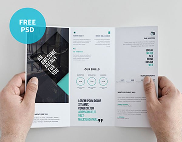 Double Sided Brochure Template Luxury Double Sided Tri Fold Brochure Template 22 Free Psd