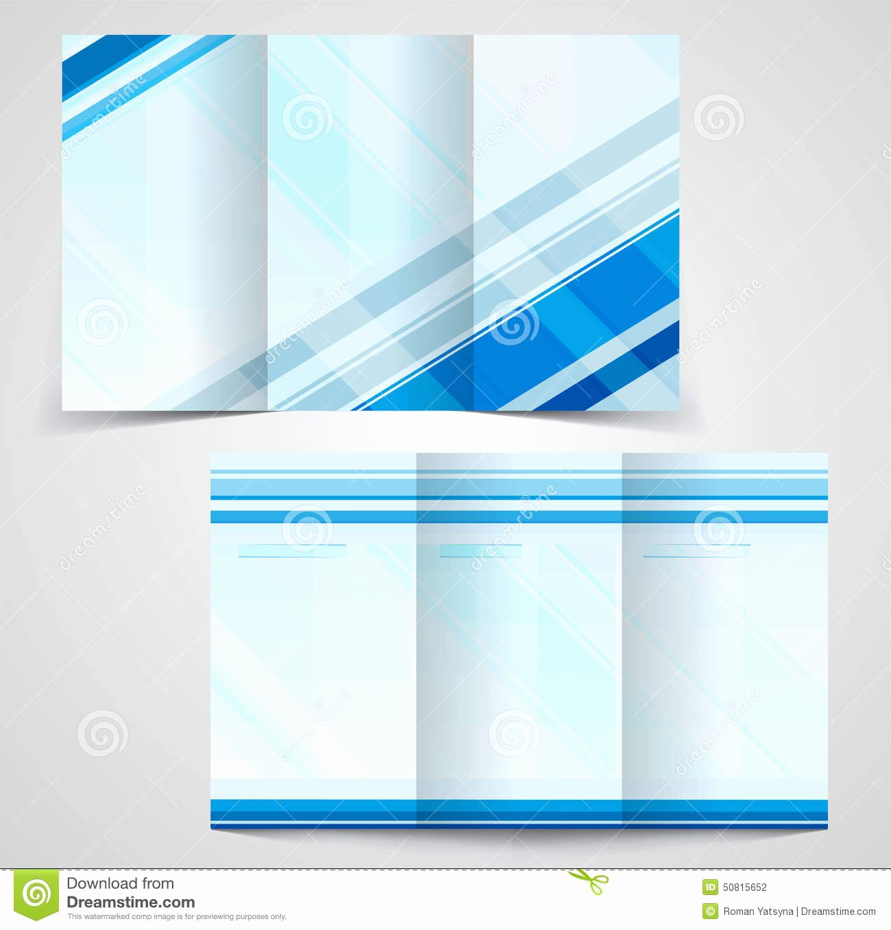 Double Sided Brochure Template Luxury Tri Fold Business Brochure Template Two Sided Template