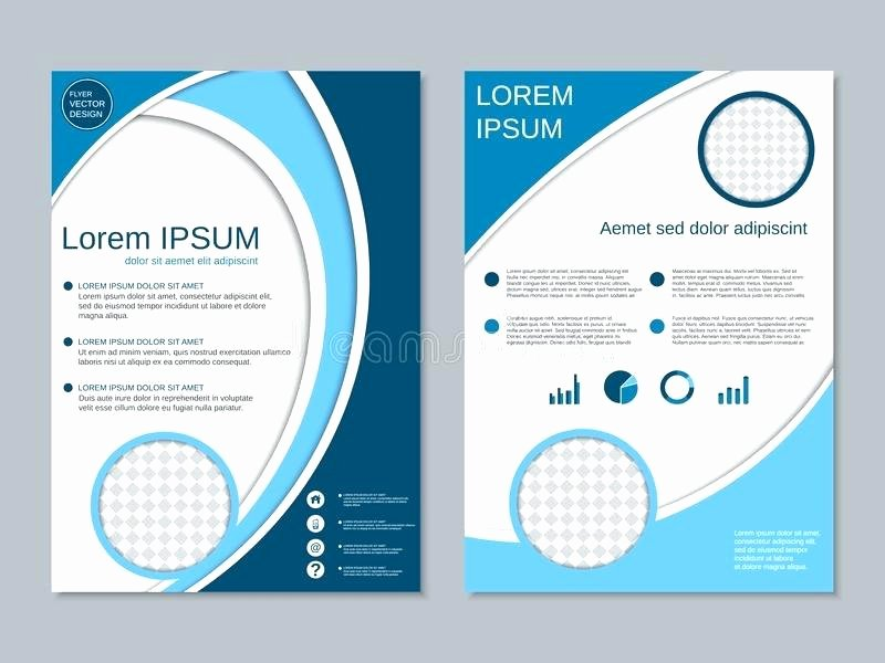 Double Sided Brochure Template New Double Sided Flyer Template Certificate Achievement Frame