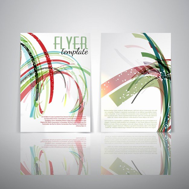 Double Sided Brochure Template Unique Double Sided Flyer Template with Abstract Design Vector