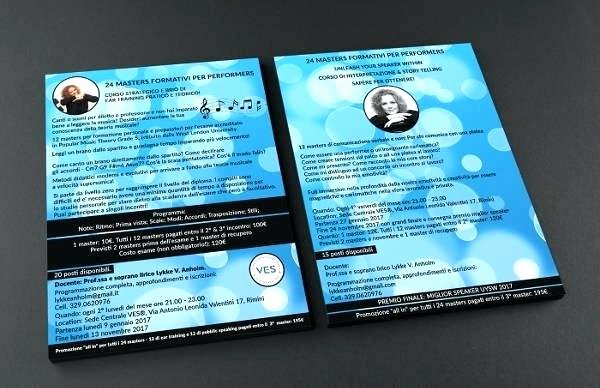 Double Sided Brochure Template Unique E Sided Business Card Templates Free Single Brochure