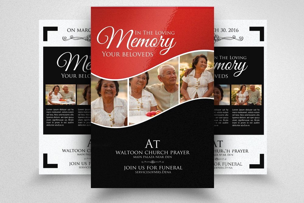 Double Sided Flyer Template Awesome Double Sided Memory Funeral Flyer Flyer Templates
