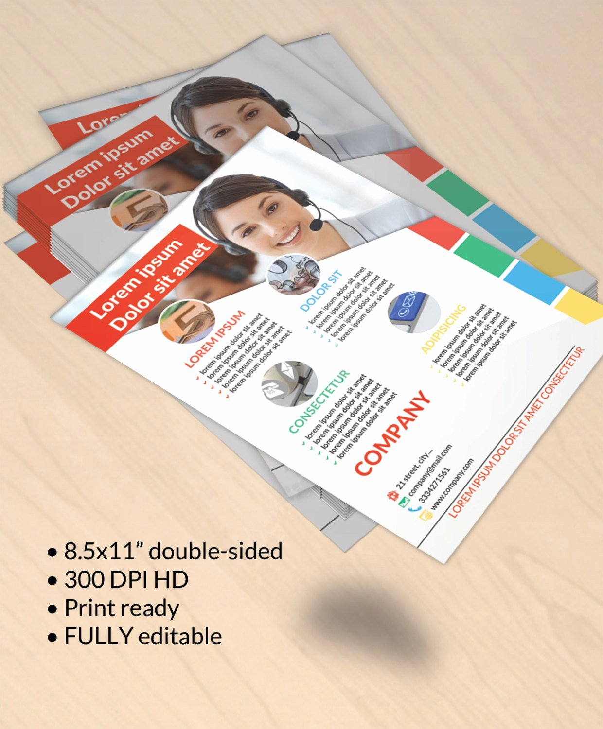 Double Sided Flyer Template Beautiful Diy Printable Double Sided Business Flyer Template Editable