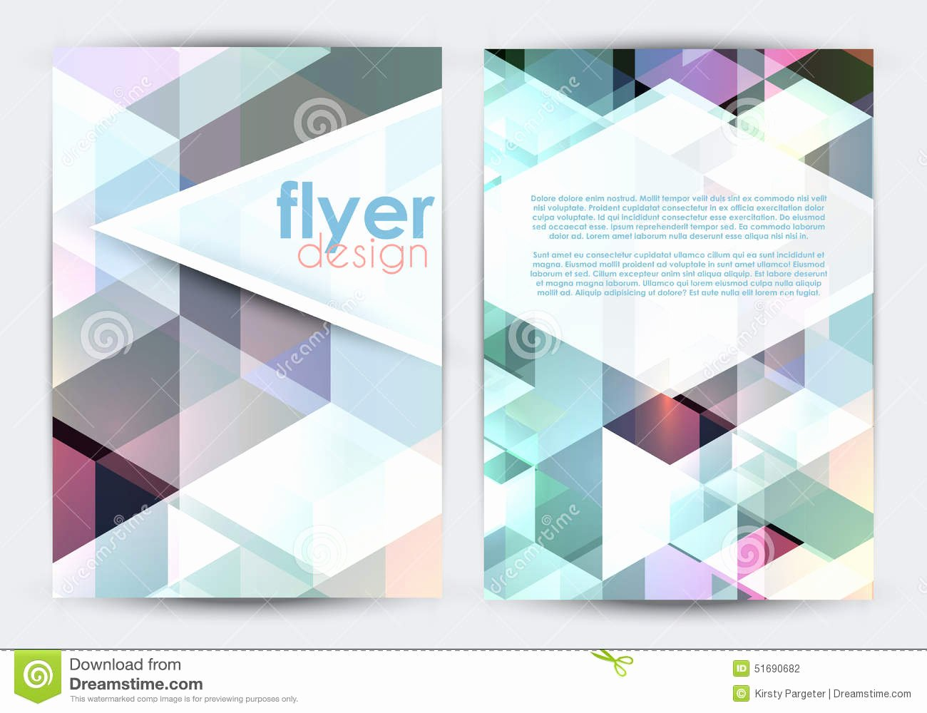 Double Sided Flyer Template Beautiful Double Sided Flyer Design Stock Vector Image
