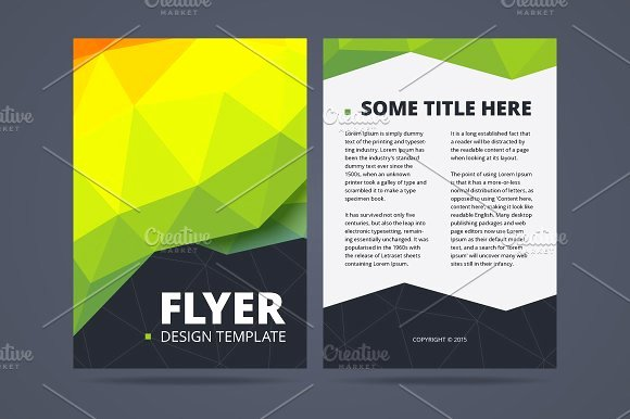 Double Sided Flyer Template Beautiful Two Sided Flyer Design Template Flyer Templates