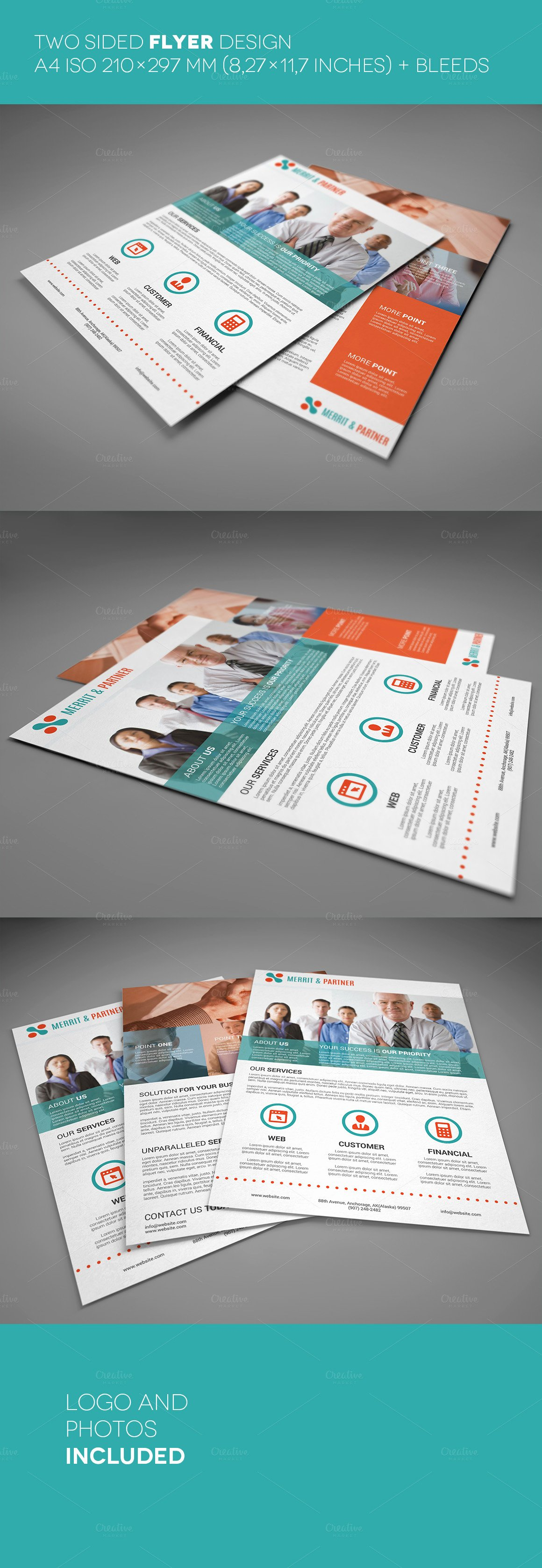 Double Sided Flyer Template Best Of A4 Double Sided Corporate Flyer Flyer Templates On