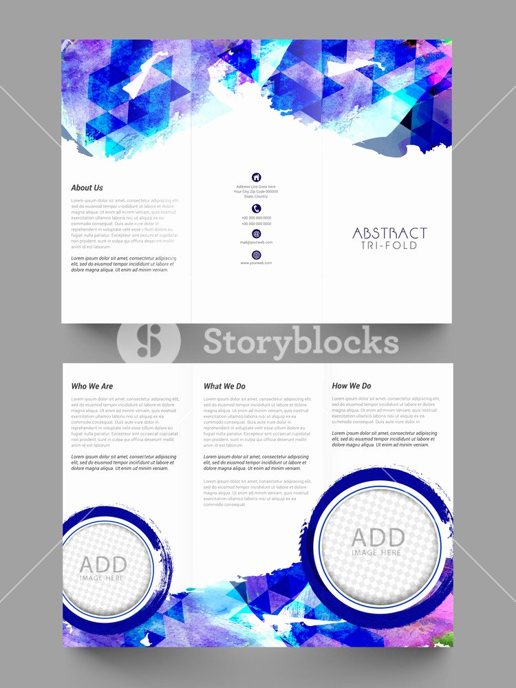 Double Sided Flyer Template Inspirational Creative Abstract Trifold Brochure Template or Flyer