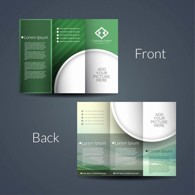 Double Sided Flyer Template Inspirational Double Sided Brochure Vector