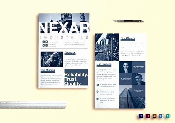Double Sided Flyer Template Lovely Double Sided Brochure Template Publisher