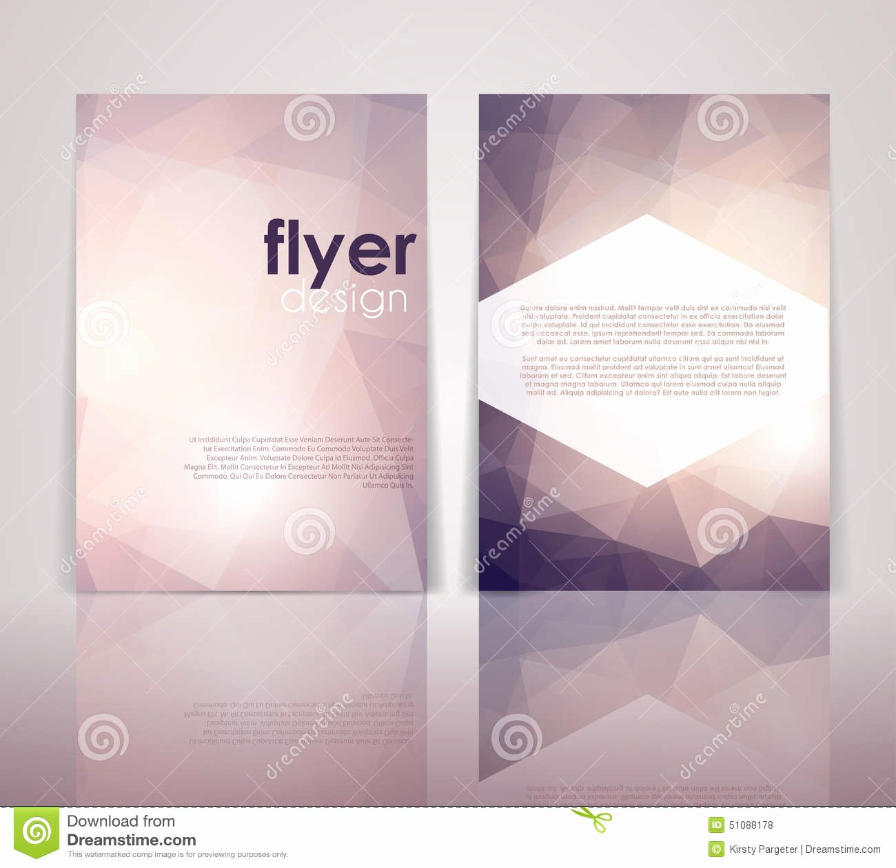Double Sided Flyer Template Lovely Double Sided Flyer Design Stock Vector Image Of ornament