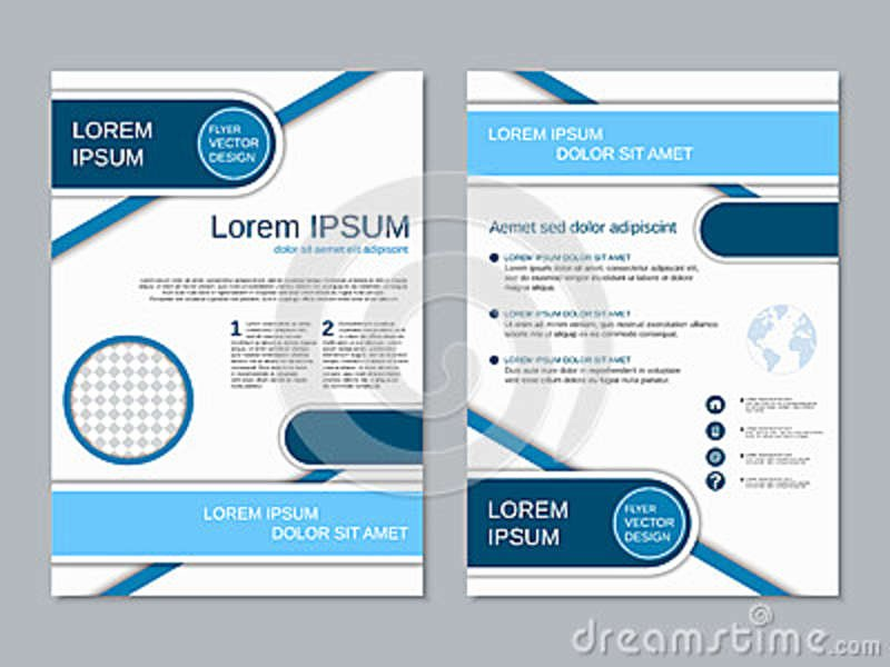 Double Sided Flyer Template Lovely Modern Two Sided Flyer Vector Template Stock Vector