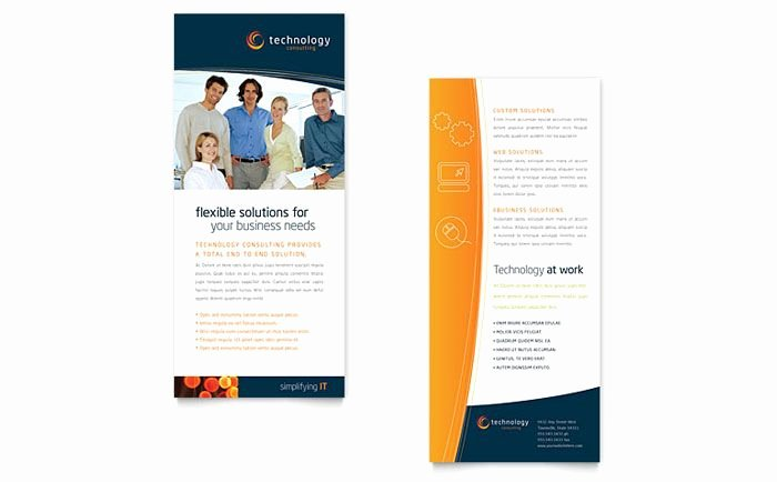 Double Sided Flyer Template Luxury Two Sided Brochure Template toddbreda