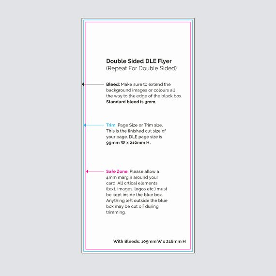 Double Sided Flyer Template New Double Sided Dl Flyers Virtual Print