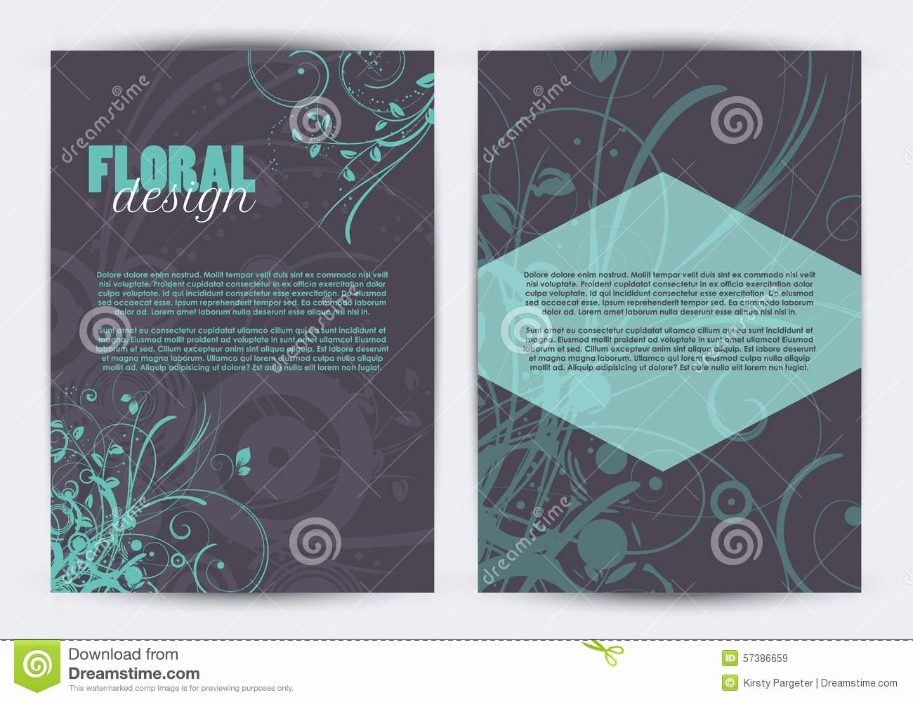 Double Sided Flyer Template New Double Sided Floral Design Flyer Template Stock Vector I