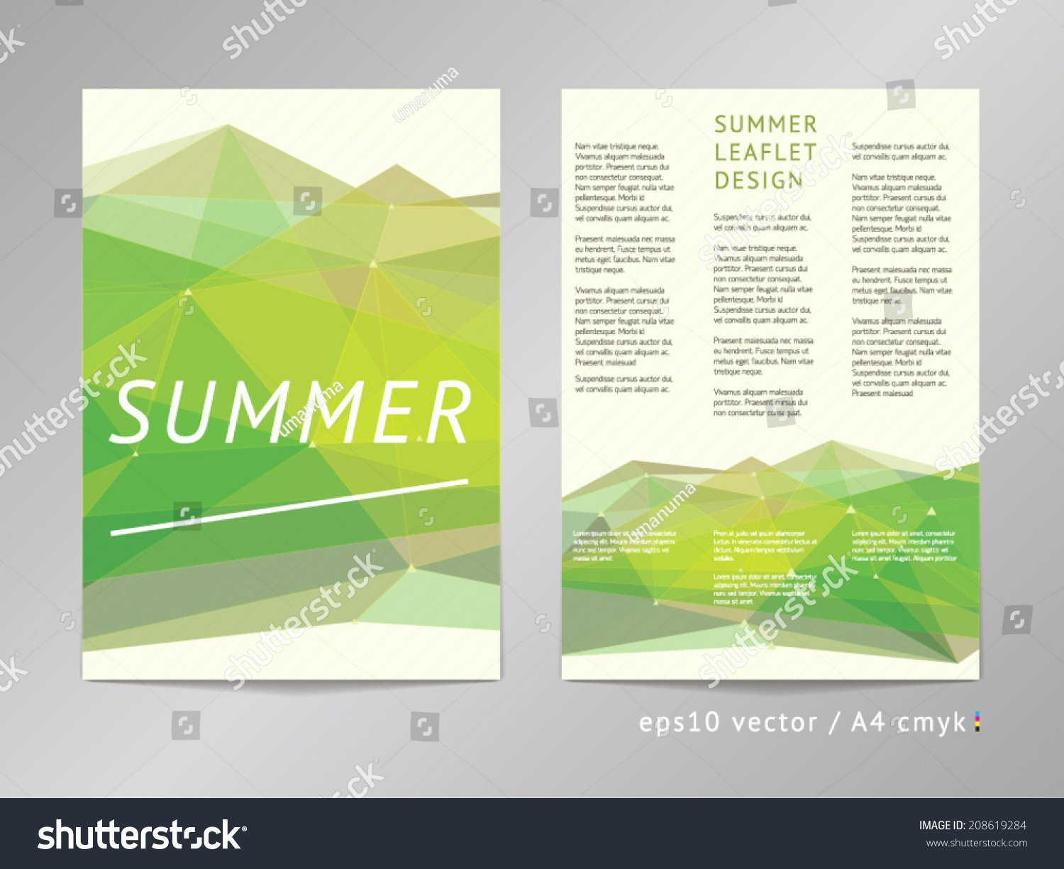 Double Sided Flyer Template Unique Three Column Double Sided Vector Leaflet Brochure