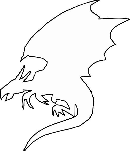 Dragon Cut Out Template Awesome Flying Dragon Clip Art at Clker Vector Clip Art