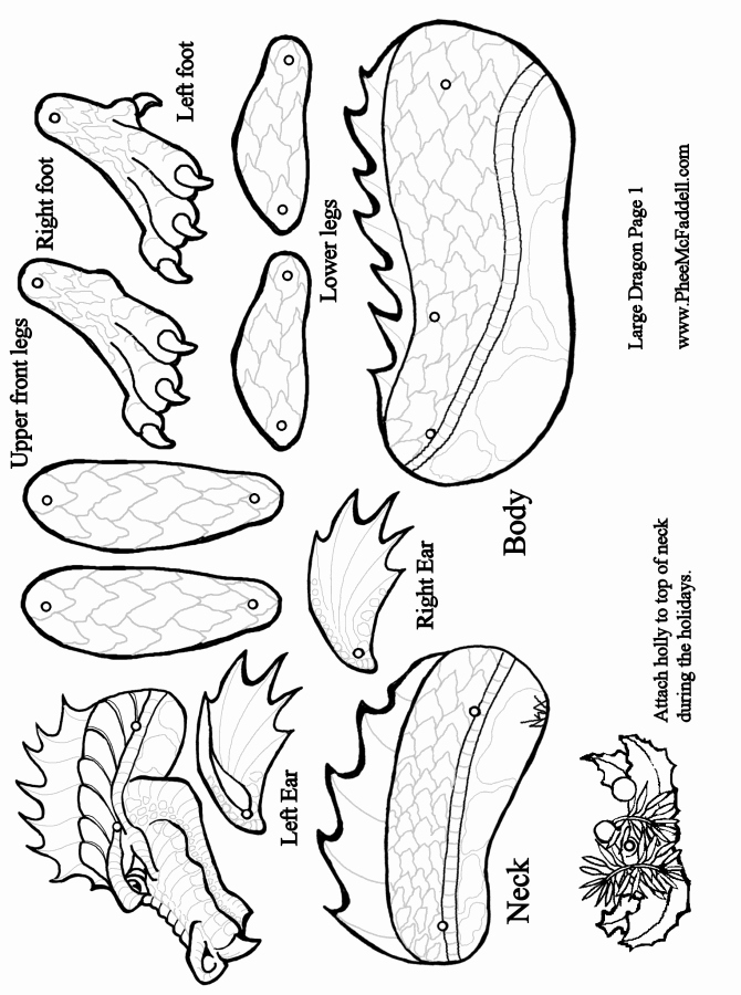Dragon Cut Out Template Fresh Dragon Puppet Page E Coloring and Craft Page