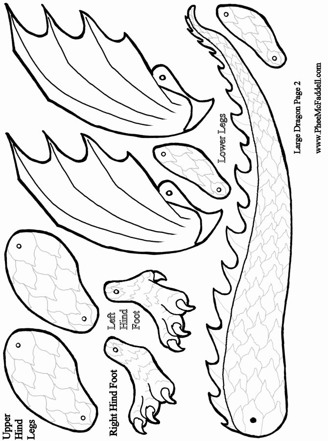 Dragon Cut Out Template Lovely 6 Best Of Dragon Template Printable Simple