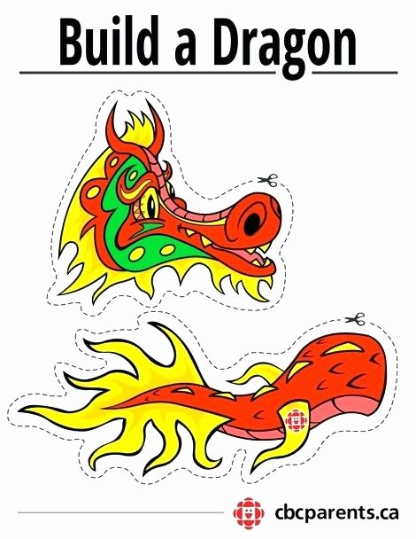 Dragon Cut Out Template Lovely Chinese Dragon Cutout Template Please Save This Image