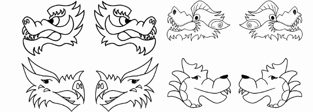 Dragon Cut Out Template Luxury Chinese Dragon Puppet