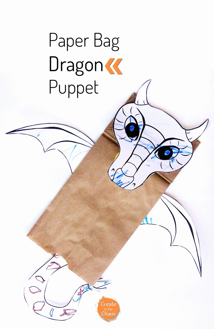 Dragon Cut Out Template Luxury Paper Bag Dragon Puppet Create In the Chaos