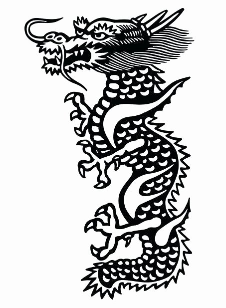 Dragon Cut Out Template New Chinese Dragon Cutout Template Please Save This Image