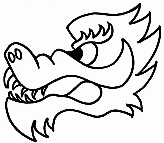 Dragon Cut Out Template New Dragon Head Template