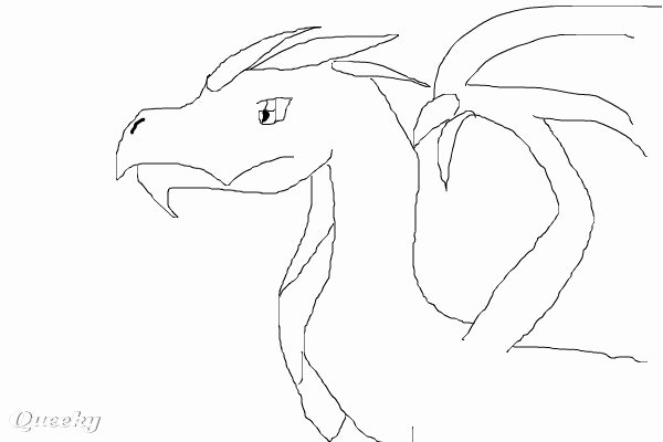 Dragon Cut Out Template Unique Dragon Template ← A Cartoons Speedpaint Drawing by