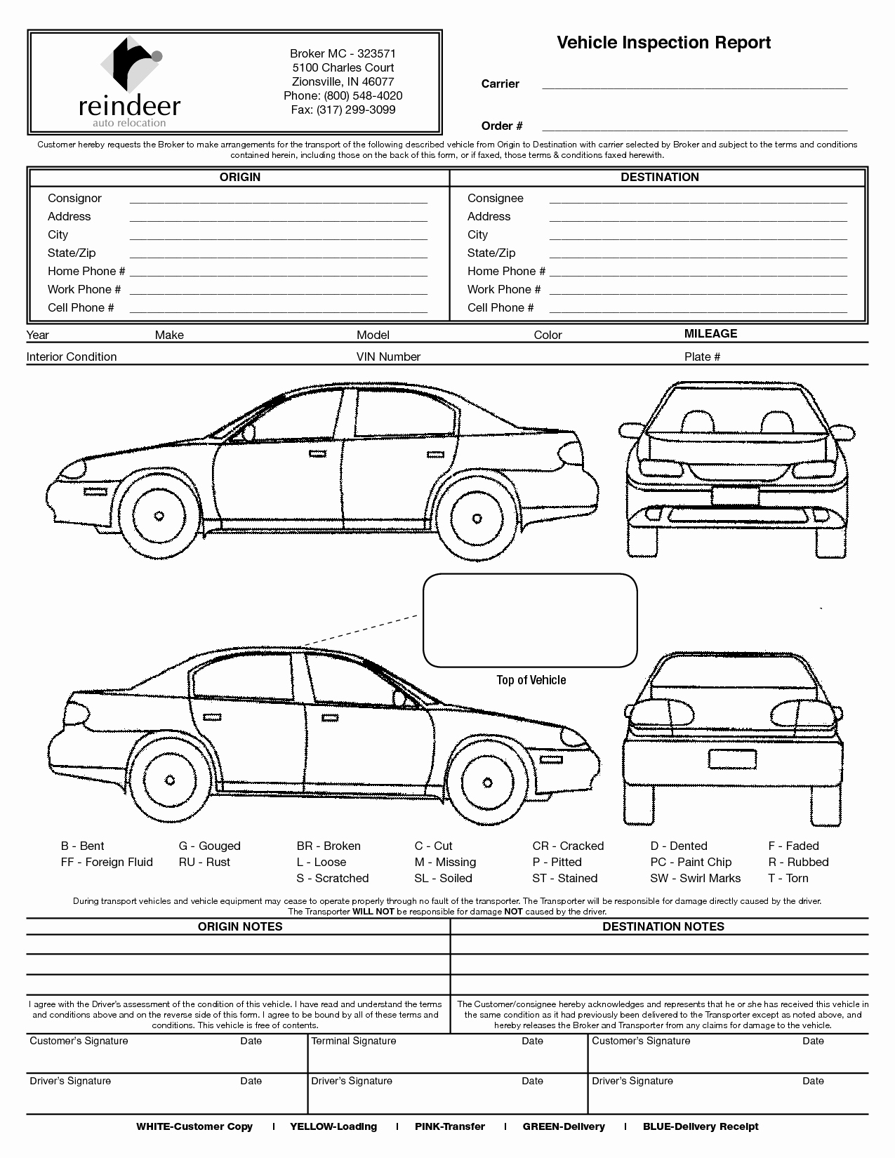 Driver Vehicle Inspection Report Template Best Of Vehicle Check In Sheet to Pin On Pinterest