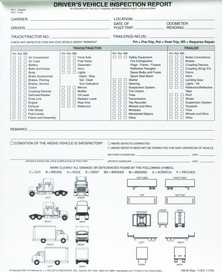 Driver Vehicle Inspection Report Template Lovely Driver Vehicle Inspection Reports Not Needed Defect
