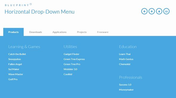 Drop Down Menu Template Luxury 25 Free HTML5 Css3 Jquery Dropdown Menus