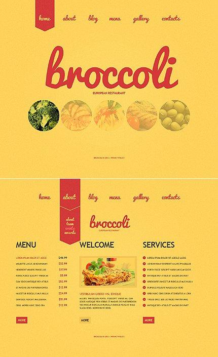 Drop Down Menu Template Luxury Template Single Page Restaurant Website Template